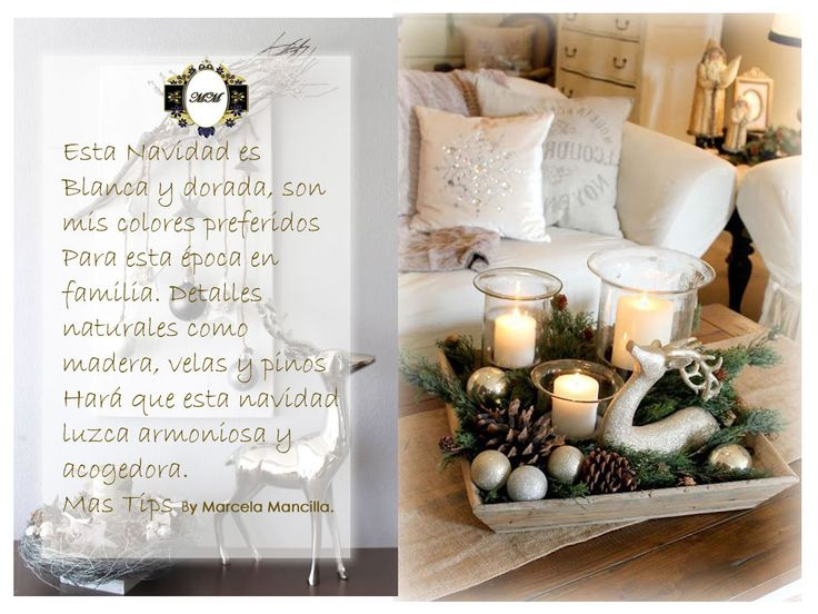 Navidad epoca para decorar tu hogar y tener momentos inolvidables. Mas tips para decorar en esta epoca tan especial http://www.marcelamancilla.com