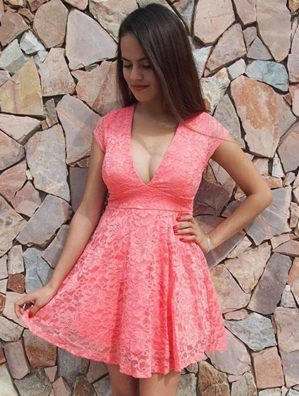 Love You Always and Forever Peach Lace Skater Dresswill be sweep you off your feet! Perfect for your next night out or weekend out on the town. A gorgeous lace overlay shapes a plunging neckline. Sheerlace short sleeves and sheer lace panel in back. Lace bodice with empire waistflares to a flirty skater skirt. Our collection of peach designs include, from bodycon dresses to shift dresses, skater dresses to halter dresses and many more! #lacedress