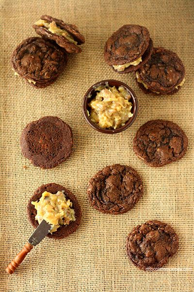 Award Winning German Chocolate Cake Sandwich Cookies (first place out of 17 cookies!)