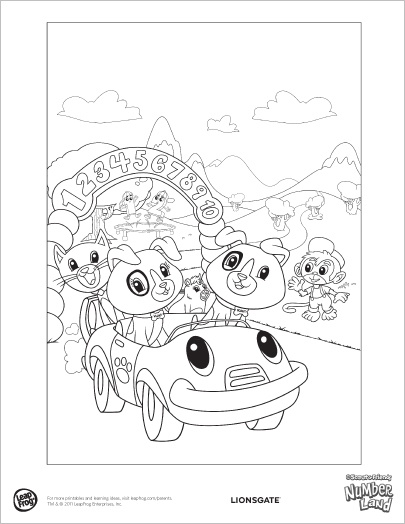 numberland coloring page