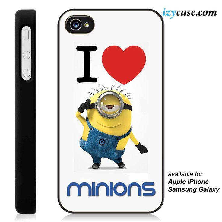 I Love Minions #1 Phone Case | Apple iPhone 4/4s 5/5s 5c 6 6 Plus Samsung Galaxy S3 S4 S5 S6 S6 Edge Hard Case