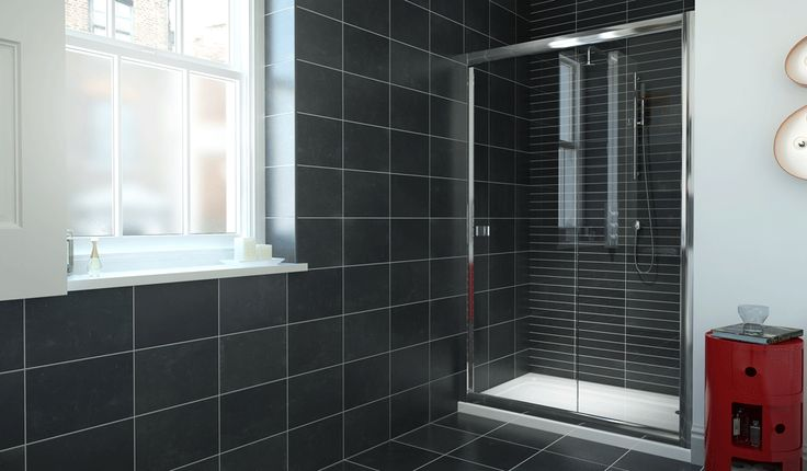 8 Series Framed Sliding Doors - Showers - Glass | Bathrooms.com