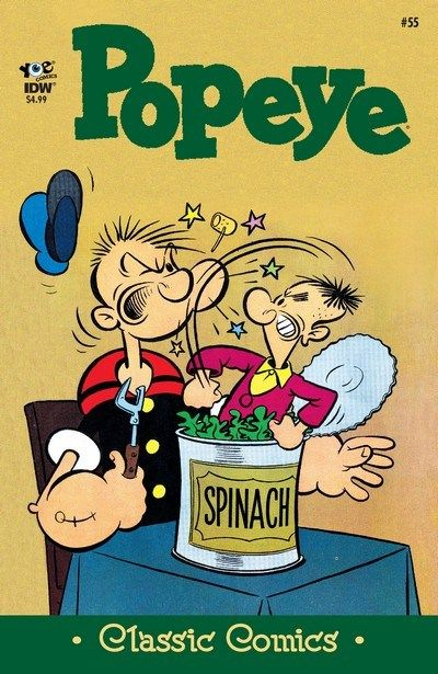 Classics Popeye n°55 (01.02.2017) // More brilliance from the raucus retro-cool Popeye comics! Five great features with your beloved Popeye characters: The one-eyed sailor himself, Swee'pea, Olive Oyl, that rascal Wimpy, O.G. Wotasnozzle, and the bad guys this time, the terrible, terrible Misermites! #classic #popeye #comics