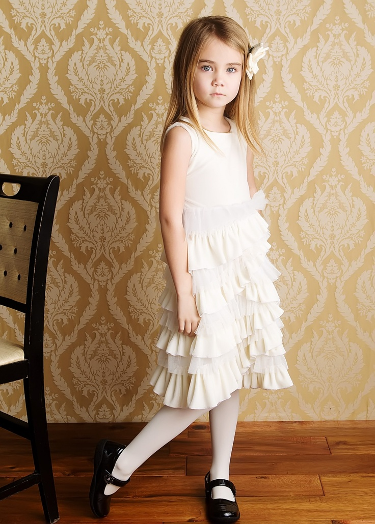 Lemon Loves Lime Magical Ivory Dress Ava Neely Girl