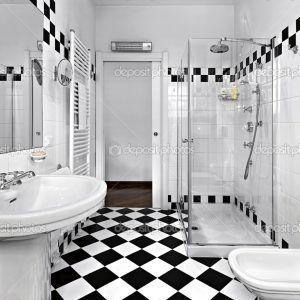 Black N White Bathroom Decor