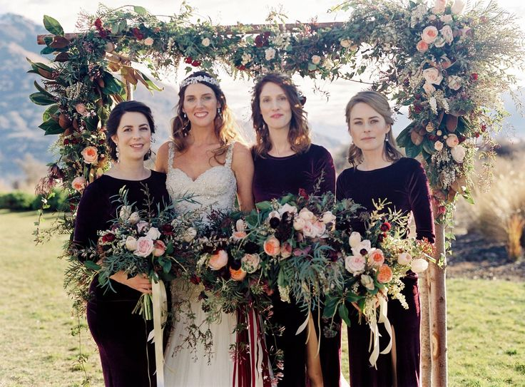 The Flower Room and their stunning work in this arch and bouquets!