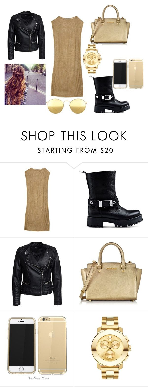"""""""25"""" by raluca-belu on Polyvore featuring Laviniaturra, Love Moschino, Sisters Point, Michael Kors, Movado and Mykita"""