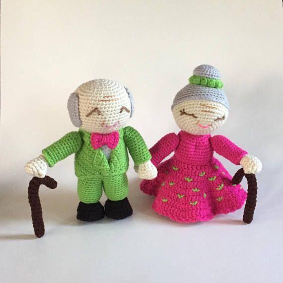 Old Man and Old Lady Amigurumi  Wedding Amigurumi  made to