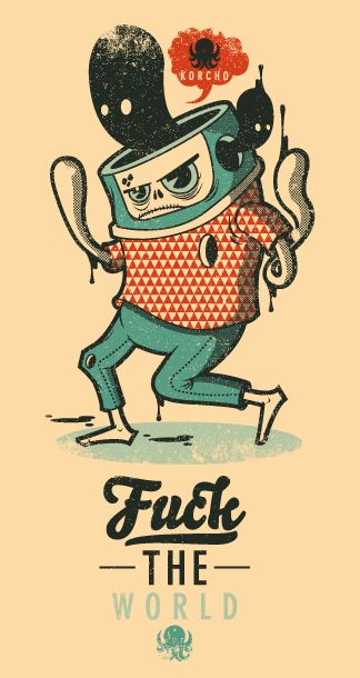FUCK by korcho , via Behance