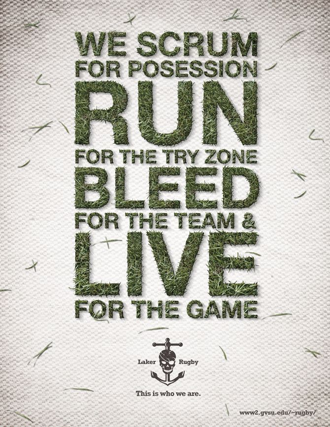 We scrum for possession, run for the try zone, bleed for the team  live for the game #rugby