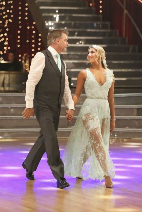 """Week 5   Bill Engvall and Emma Slater dance Viennese Waltz to the song: """"She's Always a Woman"""" by Billy Joel Judges' Scores: 8+8+8 = 24"""