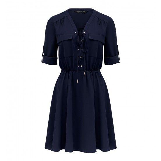 Amelia Lace Up Shirt Dress