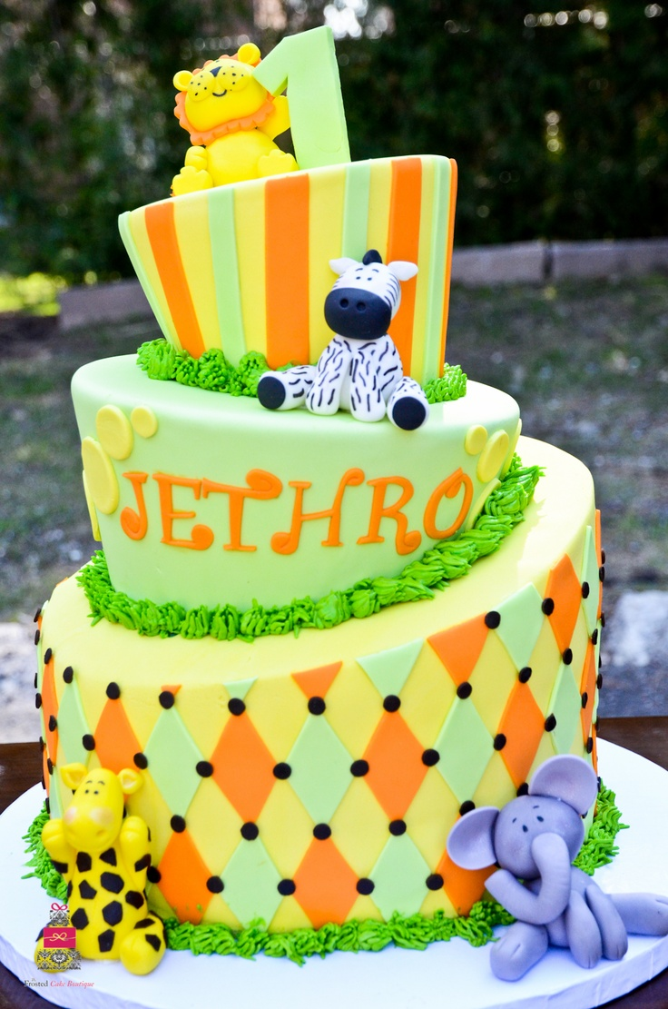 Birthday Cakes Safari Animals Image Inspiration of Cake and