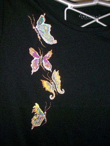 camiseta Pintada a mano -1