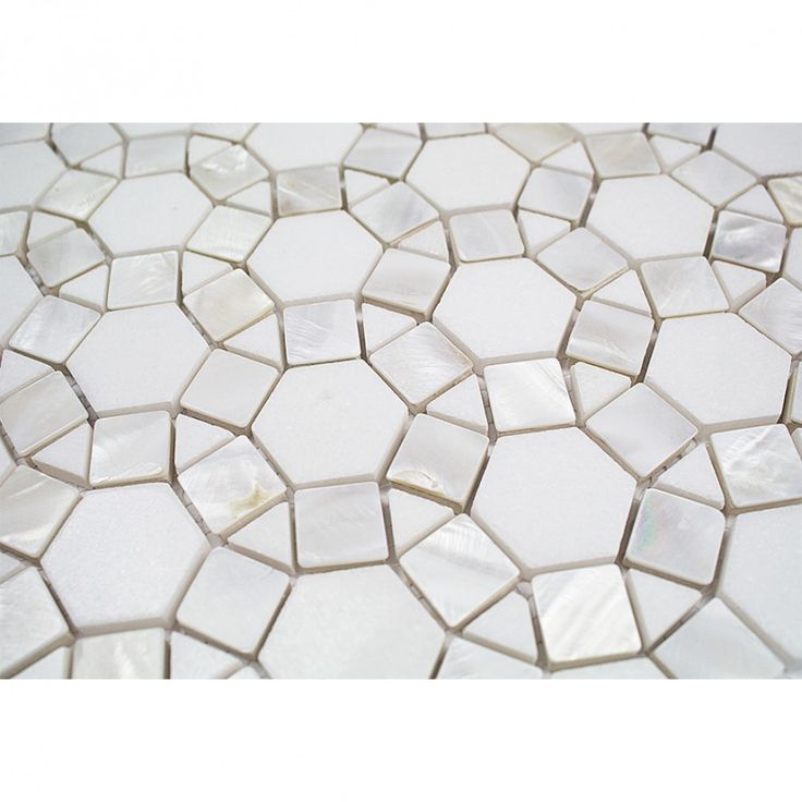 Victoria Pearl White Thassos Marble and Pearl Shell Tile - Pearl Shell Tiles