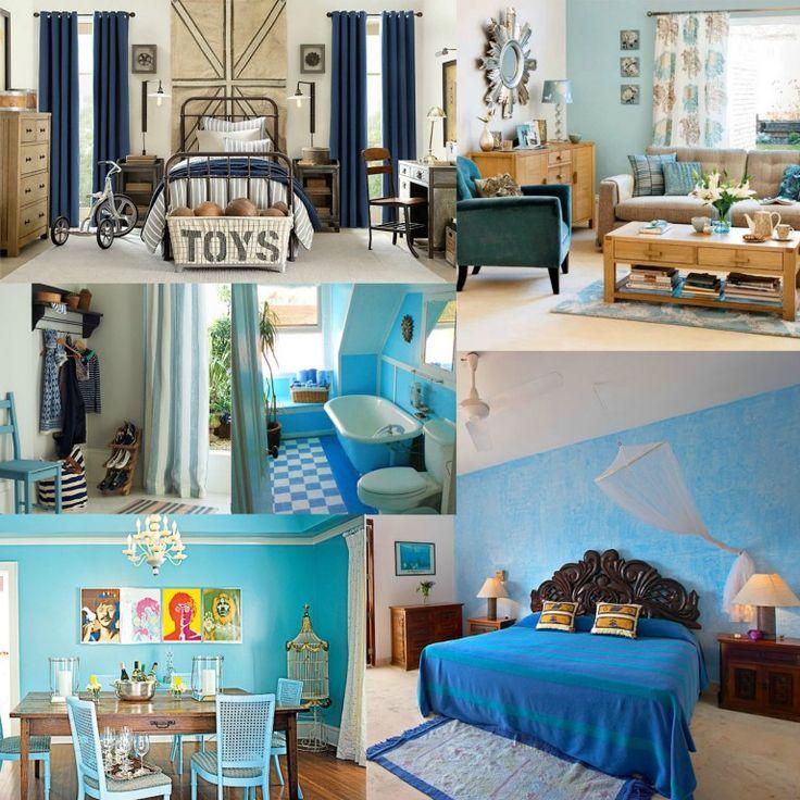 kék mint alapszín minden helyiségben