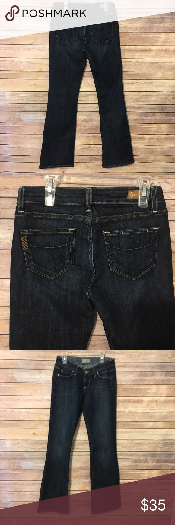 Paige premium denim laurel canyon dark wash jeans Dark wash. Great condition. Size 26 5 pocket jeans Paige Jeans Jeans Boot Cut