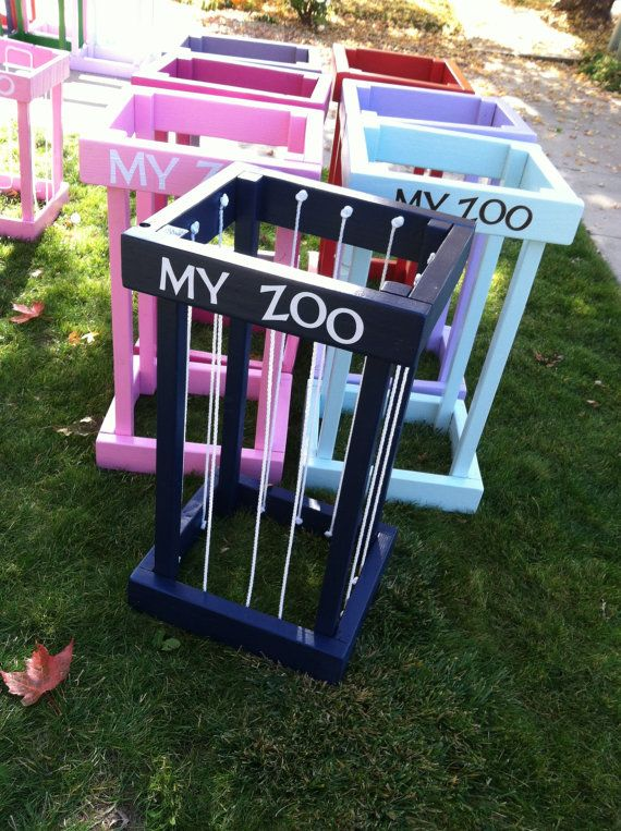 My Zoo Tall Animal Storage Cage by PickleToe on Etsy