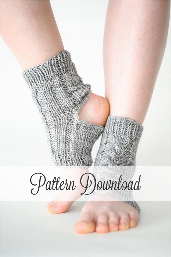 Wonderfully easy and beautiful pattern by---12 Little Things KNITTING PATTERN // Yoga Socks // Yoga Sock Pattern // Knit Yoga Socks // Toeless Socks // Socks // Knit Socks // $3.98