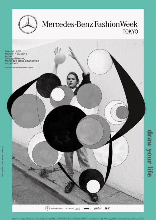Japanese Poster: Fashion Week Tokyo. Rikako Nagashima. 2014