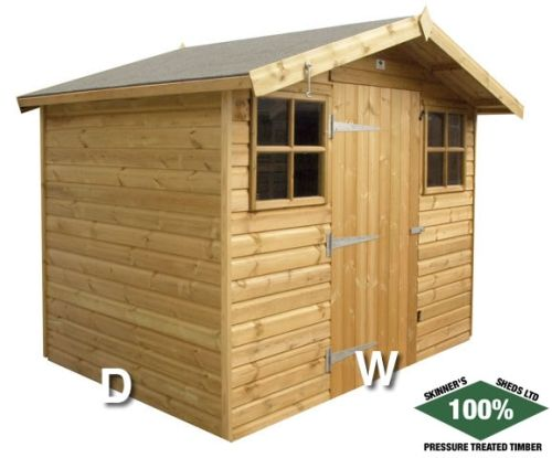 Sheds / Summerhouse by Skinners Sheds 100% Pressure Treated | Free Delivery | Free Erection  www.skinners-sheds.com