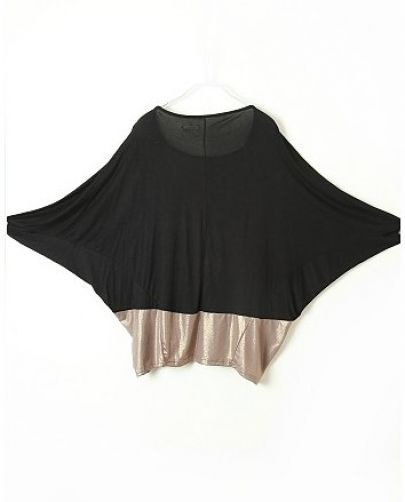 #SheInside Black Camel Batwing Half Sleeve Loose T-Shirt - Sheinside.com