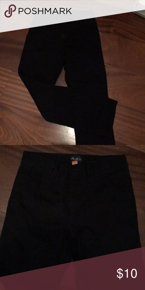 Black khaki pants Great condition hardly worn. Children's Place Bottoms Casual