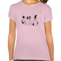 4 Pretty Vintage Ladies Tee Shirts