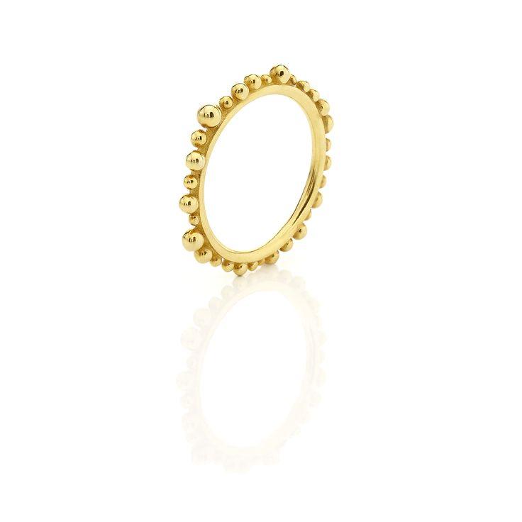Yellow gold ring #huffyjewels www.huffyjewels.com