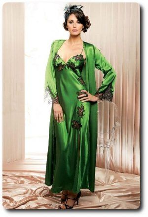 Gorgeous poison ivy negligee #green #lace