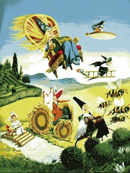 """Tony Wolf, illustration for """"Fairy Tales"""". Thing that reminds me most of being a child."""