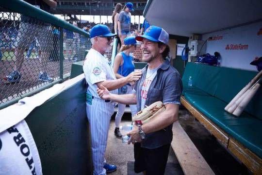 Eddie Vedder and his Cubs