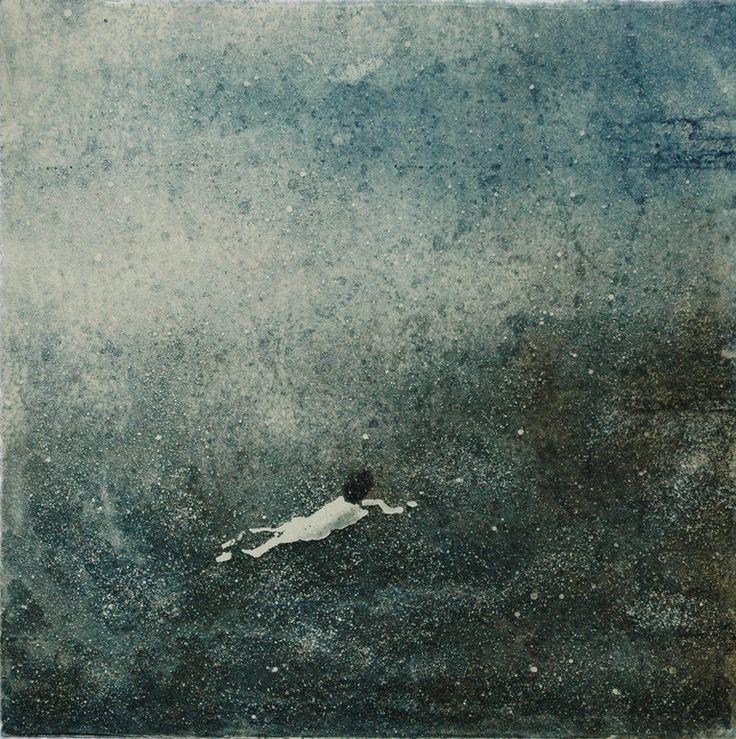 Saatchi Online Artist: June Sira; Etching, 2012, Printmaking Swim
