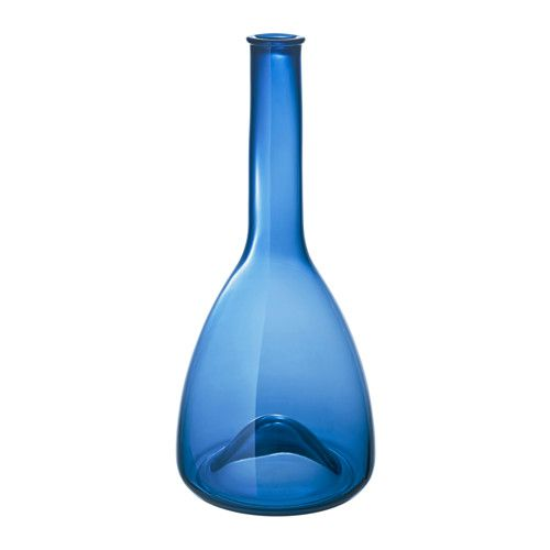 IKEA - STOCKHOLM 2017, Carafe, This carafe is mouth blown by a skilled craftsperson, giving each carafe its own unique shades of blue.
