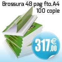 100 copie brossura a colori formato A4 48 pag interno 115 gr copertina plastificata da 250 gr