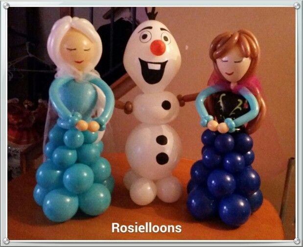 Frozen - Rosielloons - I like the balloon column dresses in this one