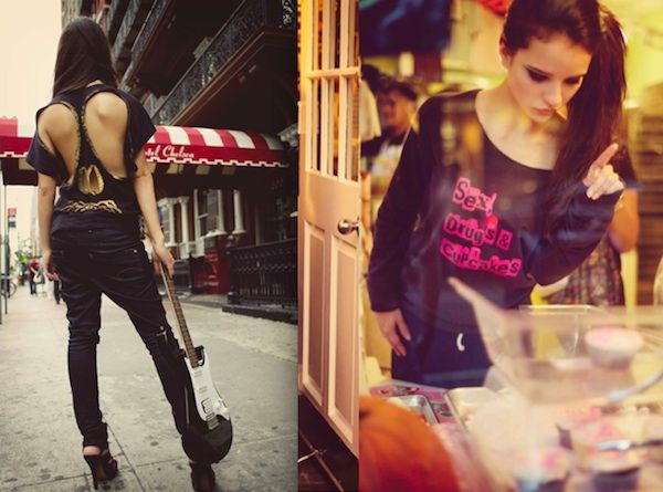 Inspired by the art and fashion in the chaotic New York City streets, filmmaker and designer Romy Heezen created hot new fashion label 'Lady Derringer'. Don't you just love these effortlessly cool and unique shirts?