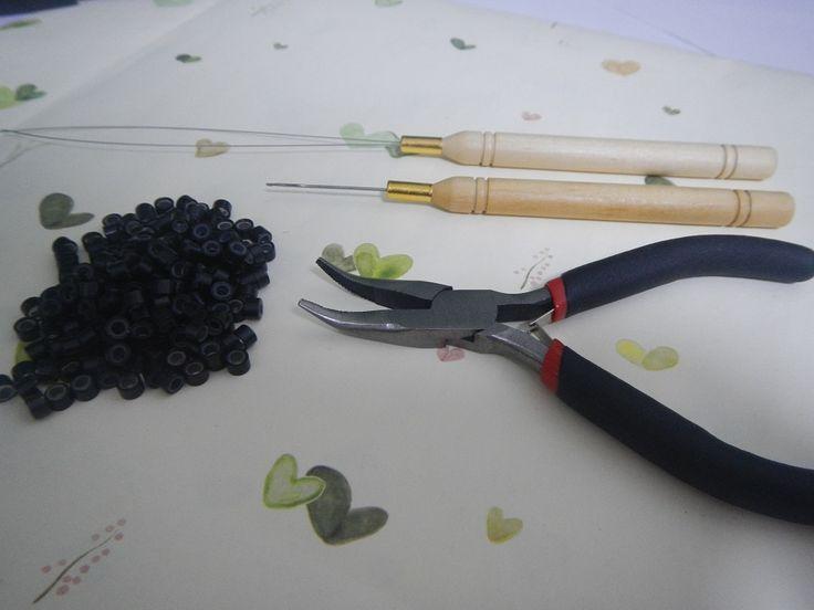 Перо Наращивание Волос Клещи набор инструментов для микрошарики цикл крюк инструменты
