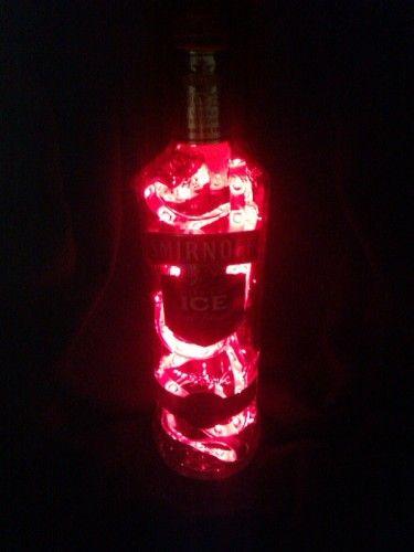 Coriandr / recycleddesign / #Handmade #SelfDesigned #Recycled Smirnoff Bottle LED Battery Lamp £16 Next Day Dispatch Till #Xmas