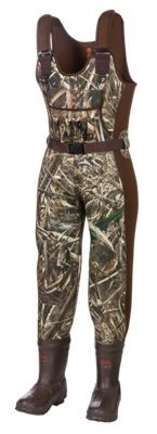 SHE Outdoor Insulated Boot-Foot Waders for Ladies - Realtree Max-5 - 10 L