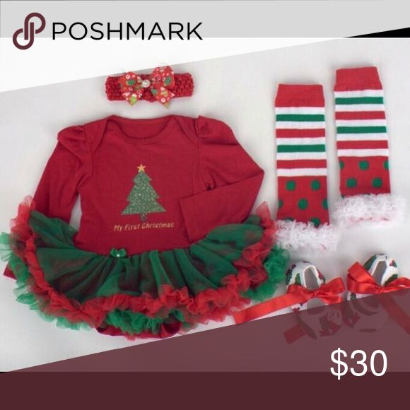 Baby Girl Christmas Tutu Outfit New ready to ship Matching Sets