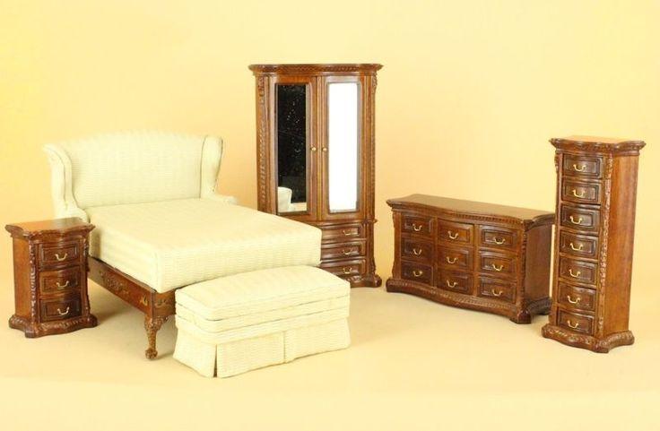 "Bespaq Direct Dollhouse Miniature ""PARK AVENUE"" BEDROOM SET 2680-PSS-NWN-SET | eBay"