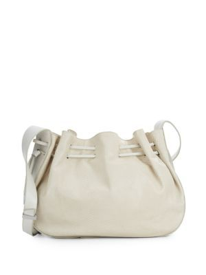 HALSTON HERITAGE Large Lizard-Embossed Leather Bucket Bag. #halstonheritage #bags #shoulder bags #leather #bucket #lining #