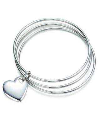 Tiffany & Co Two Hearts Triple Bangle