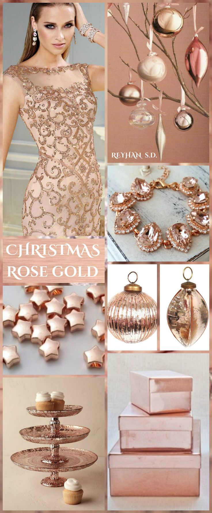 126 best Rose Gold images on Pinterest Christmas colors Color