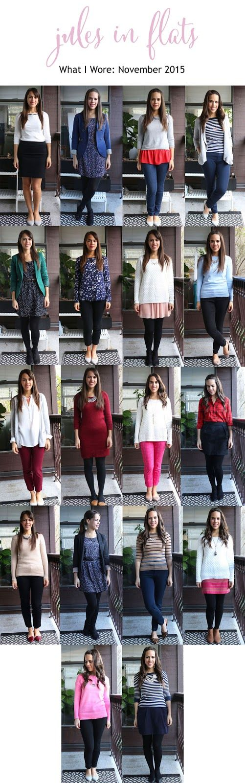 jules in flats: personal style blog - business casual workwear on a budget November 2015 Monthly Outfit Roundup