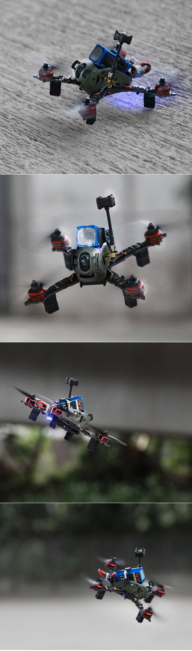 """Storm Mech X5 pod racer  Designed and manufactured by the same team of Storm SRD280, the Storm Mech X5 is a  light weight 220mm class FPV racer for 5"""" propellers and 2204~2306 motors, it's a X-frame design with a full carbon fiber 4mm """"Unibody&"""
