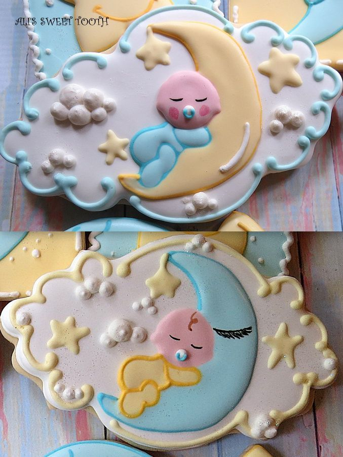 10 Images About Earth Moon Stars Cookies On Pinterest