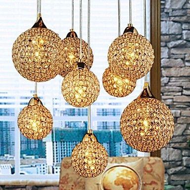 Gouden kroonluchters met 8 licht Gebruik voor Living Room – EUR € 249.99