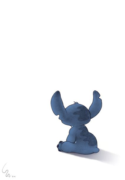 Love this picture of stitch....as if he's waiting for someone...